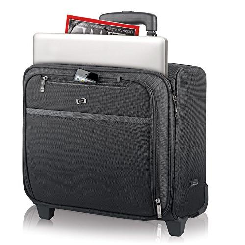 Solo 16 Rolling Laptop Overnighter Section, Black