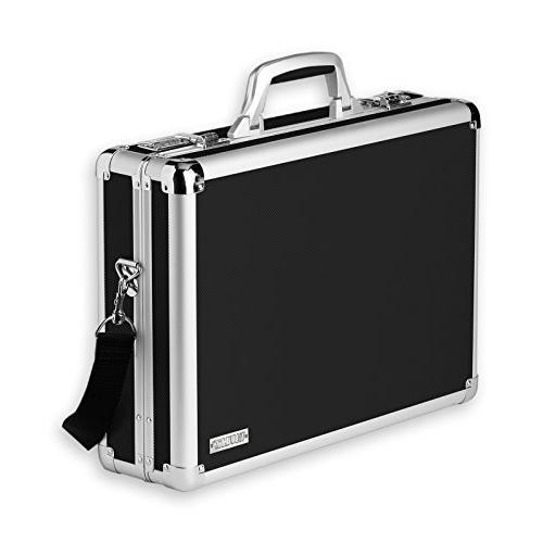 Vaultz Locking Laptop Case, Black
