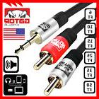 AUX Auxiliary 3.5mm Audio Plug Male to 2 RCA Plug Male Stere