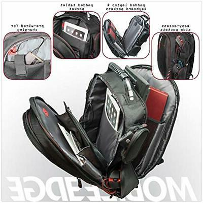 Backpacks Gaming With Front Panel Black Red Trim