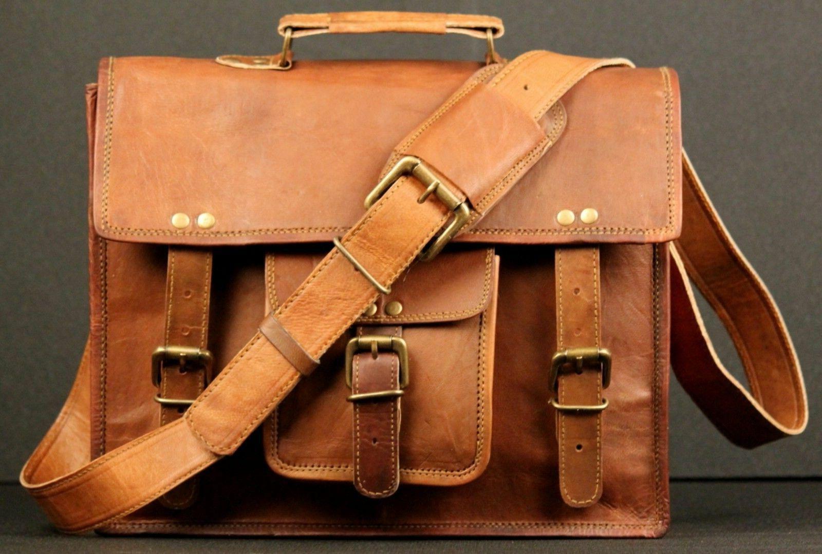 Bags Leather Messenger Bag Laptop Bag Computer Case Shoulder