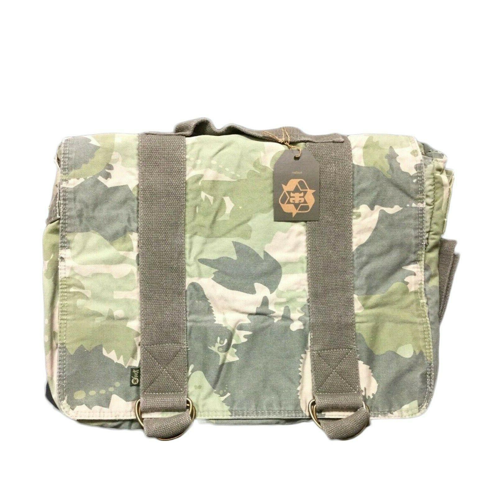 bigfoot laptop messnger bag camo canvas padded