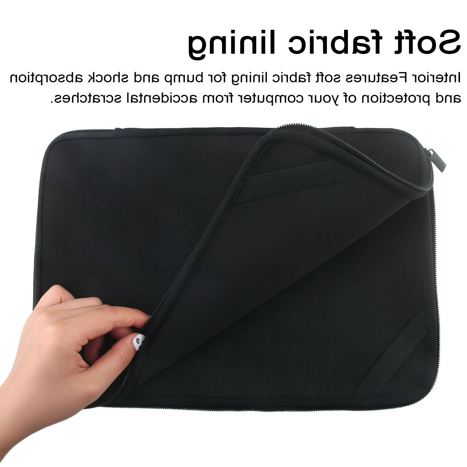 "Black 15.6"" Sleeve Bag Notebook Case For HP Dell Acer Lenovo ASUS"