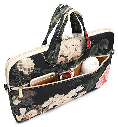 DACHEE Peony Patten Waterproof Shoulder Bag Case 14 Laptop Laptop Briefcase 15.6 Inch