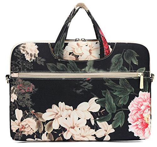 DACHEE Peony Waterproof Laptop Shoulder Bag Case 14 Laptop Case Laptop 15.6 Inch
