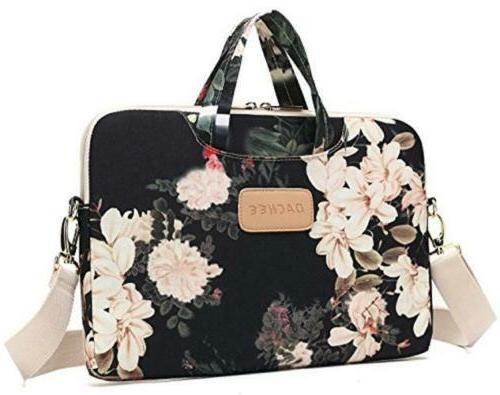black peony patten waterproof laptop