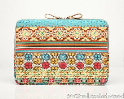 Kayond Bohemia Canvas Notebook PC Macbook Pro Air Sleeve Bag Cover