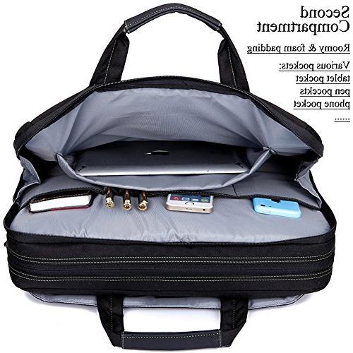BRINCH 17.3 Inch Shockproof Laptop 17 - Laptop MacBook Shoulder Handles and Various Pockets