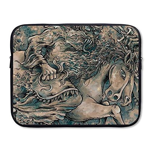 business briefcase sleeve horse snake