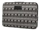 KAYOND Canvas Fabric 17 inch laptop Sleeve case-Elephant pat