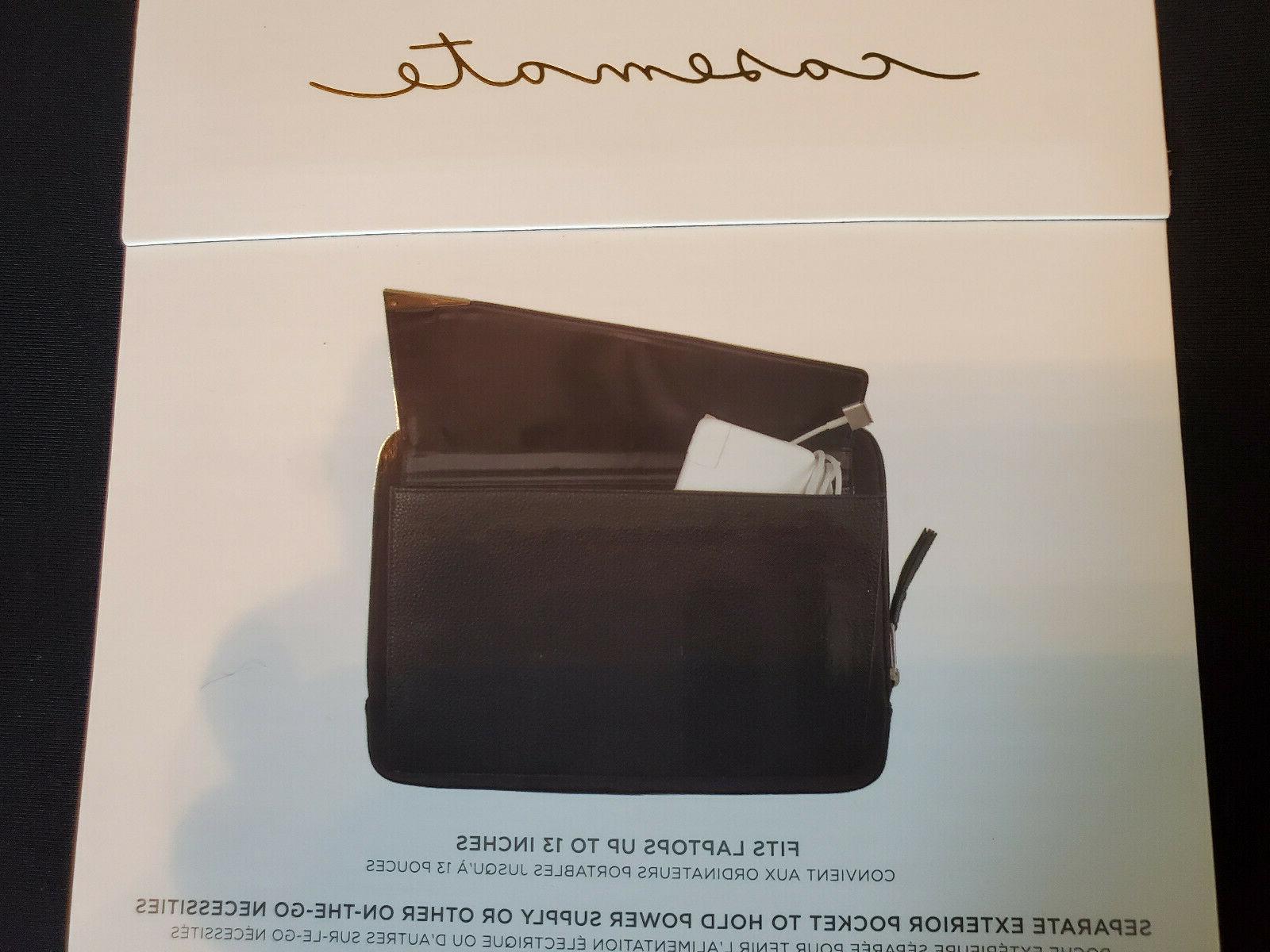 Case Edition Laptop Sleeve Folio with Pocket Black
