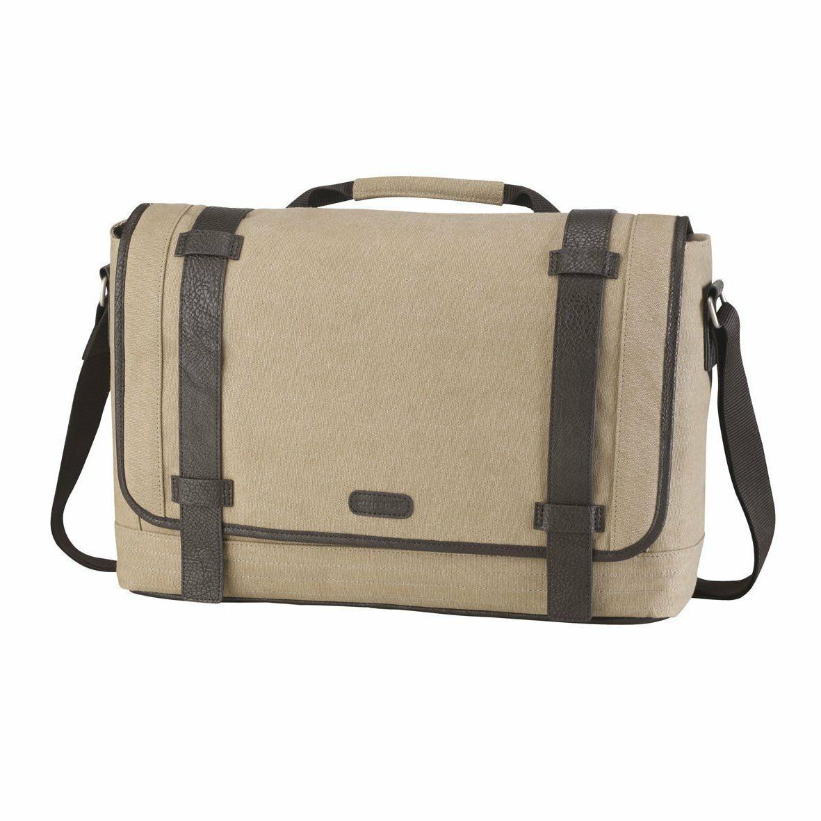 city fusion canvas messenger laptop bag case