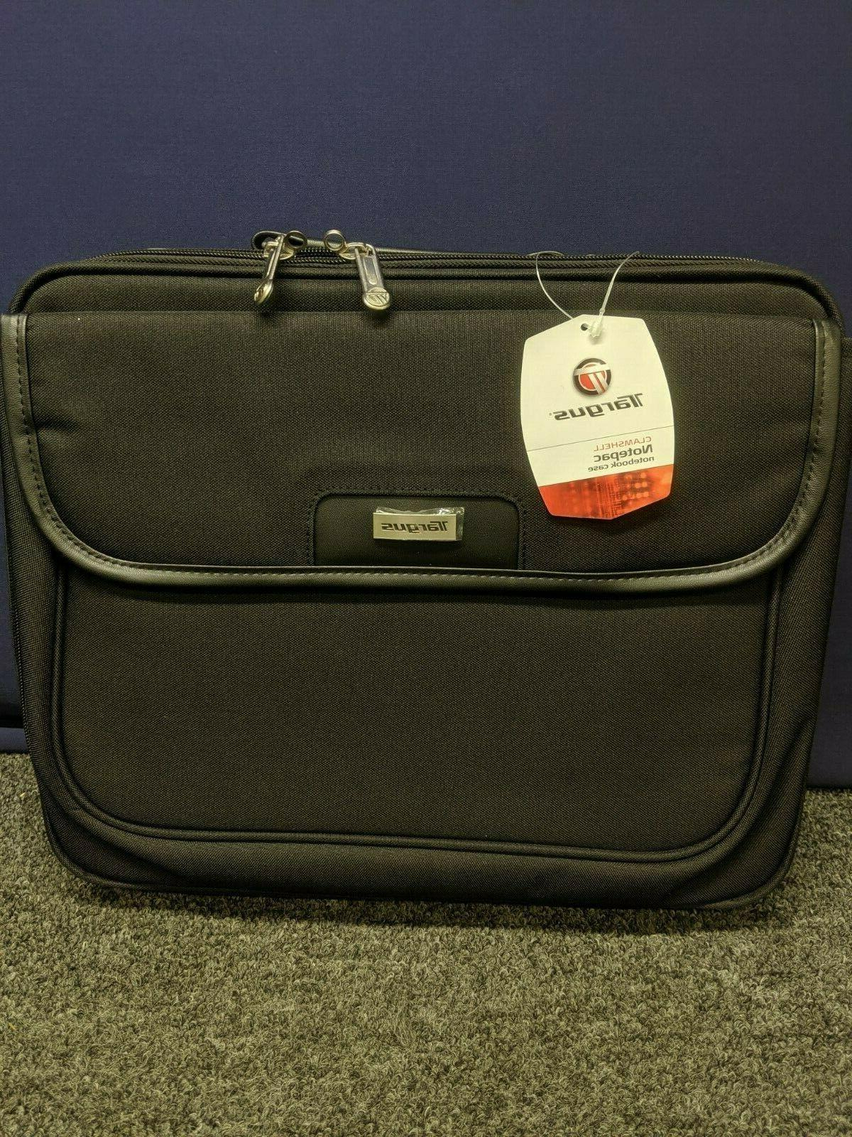clamshell notepac notebook laptop case black 15