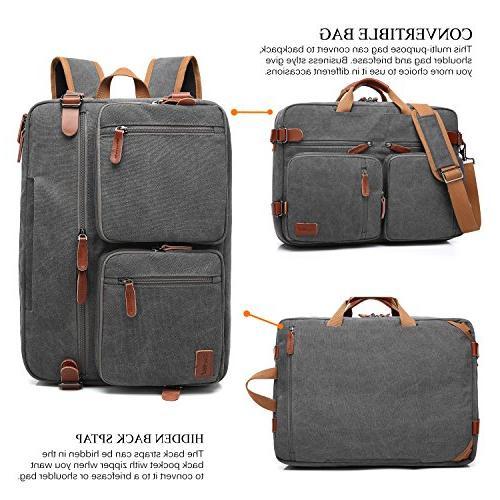 CoolBELL Convertible Backpack Bag Case Handbag Briefcase Multi-Functional Men/Women