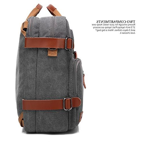 CoolBELL Convertible Bag Shoulder Case Multi-Functional Rucksack 17.3 Laptop Men/Women