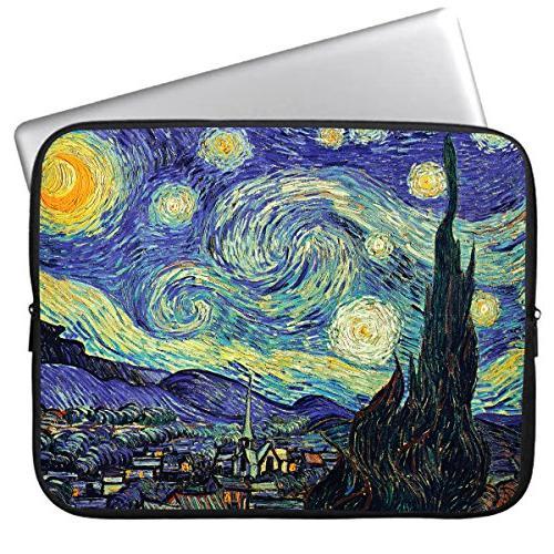cute starry night neoprene laptop