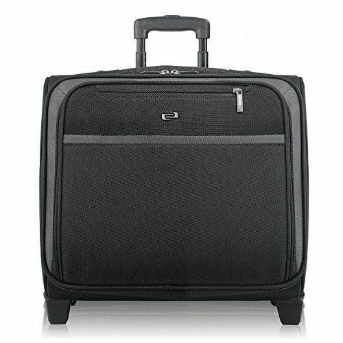 """SOLO 16"""" Rolling Overnighter Laptop Case ~ NWT CLA9014"""