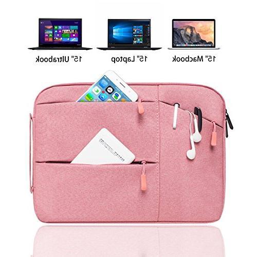 "YOCOWOCO 14-15.4 Laptop Sleeve Strap Case Handbag for 15"" Air/other 14-15.4 Lenovo Chromebook"