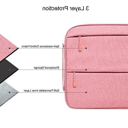 "YOCOWOCO Inch Laptop Sleeve Bag Strap Handbag for 15"" MacBook Pro/MacBook Air/other Acer Lenovo Toshiba Chromebook Notebooks Pink"