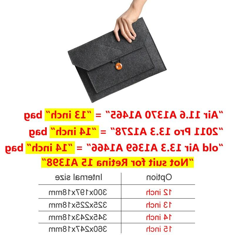 Fashion Sleeve Bag Notebook <font><b>Case</b></font> Pro Retina 11 13 15 Lenovo HP Liner