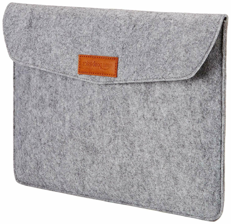 felt macbook laptop sleeve case light grey
