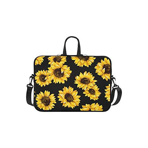 floral sunflower laptop sleeve case