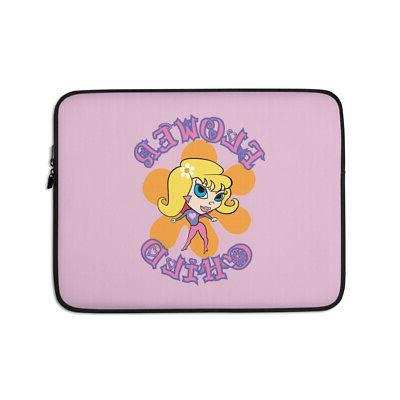 flower child laptop sleeve hippy chick flower