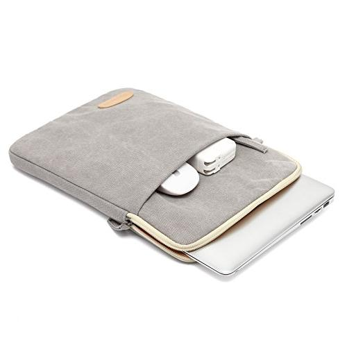Canvaslife Vertical Style Resistant Laptop Sleeve Pocket 13 Inch Pro 13 Case laptop Sleeve