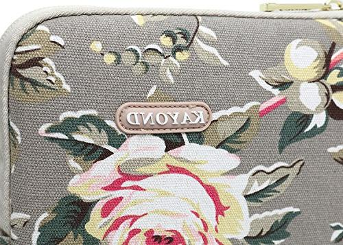 KAYOND Gery canvas Laptop Sleeve case 12.5inch 13inch 12.9 Pocket
