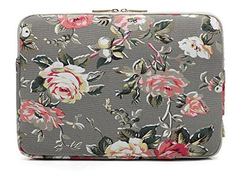 KAYOND Rose canvas Laptop Sleeve 12.5inch Notebook Computer 12.9 Pocket