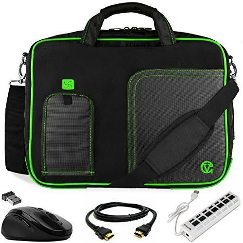 green trim laptop bag w