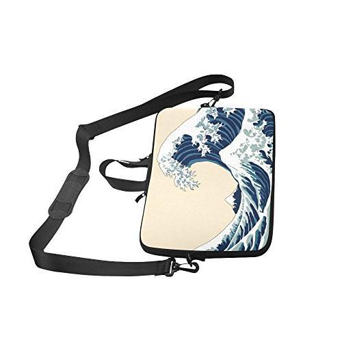 InterestPrint Sleeve Case Bag, Great Shoulder Laptop Sleeve Notebook Bag 15-15.6 Macbook Air HP Ultrabook