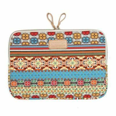 "KAYOND 14"" Bohemian Canvas Laptop Sleeve Case Bag for Apple"