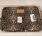 KAYOND Leopard Laptop Cover Soft Canvas Bag for Laptop Noteb