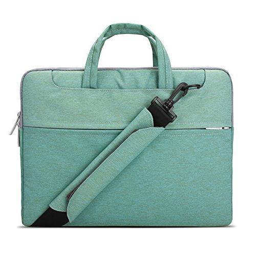 lacdo 15 156 inch waterproof fabric laptop shoulder bag slee