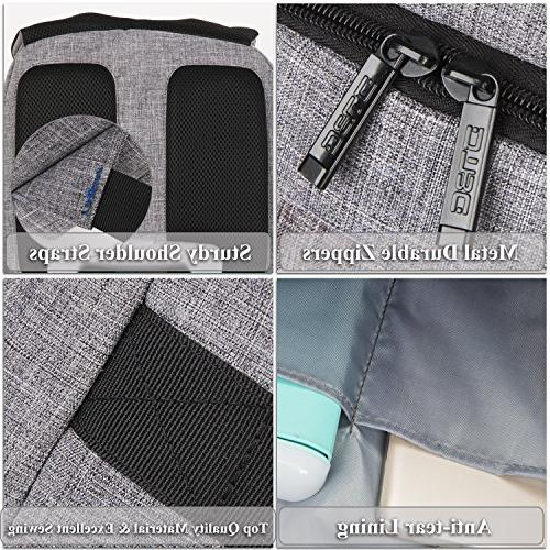 "DTBG 17 Inch Backpack Port Anti-theft Business Women / Men,Slim College School Bag for 17.3"",Gray"