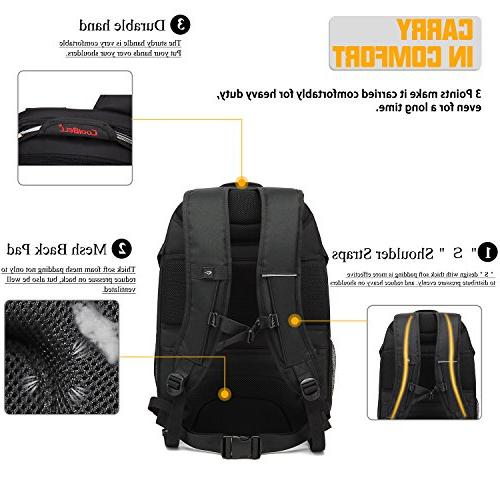 Laptop Inch USB Port Rucksack Hiking Knapsack Checkpoint-Friendly Fits for /