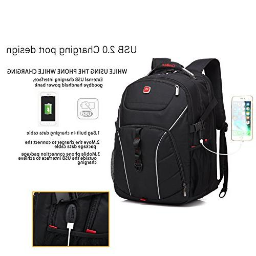 Laptop Inch Computer USB Water-Resistant Hiking Backpack Fits 15-18.4 Inch for /