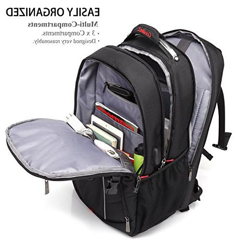 Laptop Backpack, CoolBELL Inch Bag with USB Port Hiking Fits Inch for Men/Women