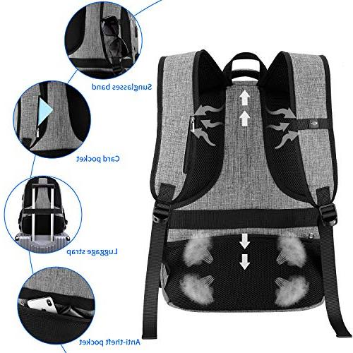 Travel Backpack, IIYBC Anti Theft Laptop with USB Charging and Headphone Interface, Backpack Men School Bag 17 Inch and