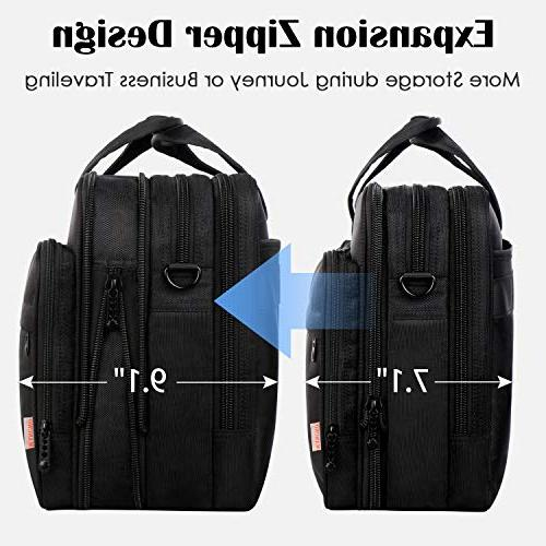 17 inch Large Briefcase for Men Women, Carrying Fits 15.6 Computer Bag Ultrabook