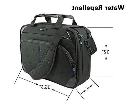 KROSER Inch Briefcase Messenger Bag Computer Case Shoulder Bag with Business/College/Women/Men-Black/Blue