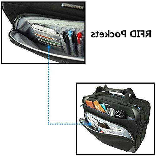 KROSER Inch Briefcase Messenger Bag Water Repellent Computer Laptop Bag Durable Tablet with Pockets for