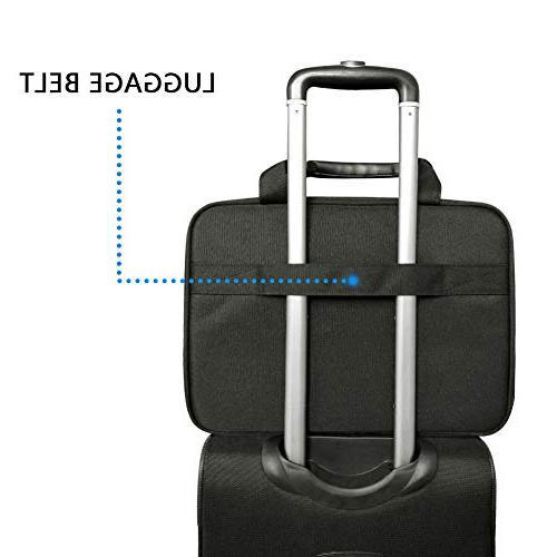 KROSER Bag Inch Messenger Bag Water Computer Laptop Shoulder Bag Durable Tablet Sleeve with RFID Pockets Business/College/Women/Men-Black/Blue