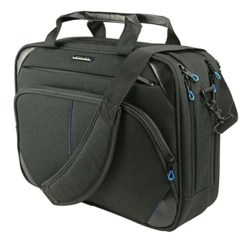 KROSER Bag Inch Laptop Laptop Messenger Bag Computer Case Bag Durable Tablet with RFID Pockets for Business/College/Women/Men-Black/Blue