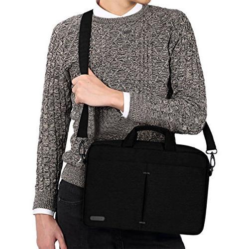 ARVOK 15-16 Bag Multifunctional Sleek with and Messenger Carrying Case, Black