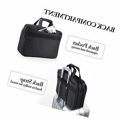 Laptop 15.6 Inch Briefcase Tablet Messenger with Strap