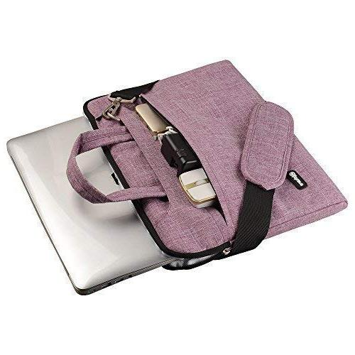 Qishare Laptop Case, Shoulder Bag, Multi-Functional Sleeve, Strap MacBook HP Stream Acer Asus Dell