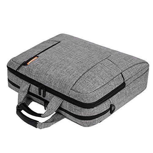 BRINCH Computer Sleeve Shoulder Strap Bag with Side Pockets and Detachable for Laptop/Notebook Netbook/Chromebook,Colour Light