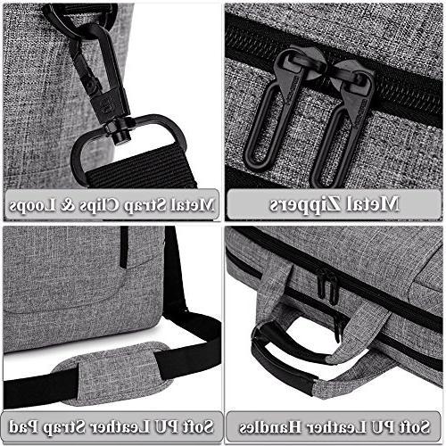 BRINCH 15.6 inch Laptop Computer Case Shoulder Bag Side Pockets Handles Detachable for Netbook/Chromebook,Colour